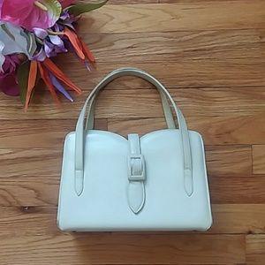 VINTAGE Dobbie Bags Cream Structured Handbag